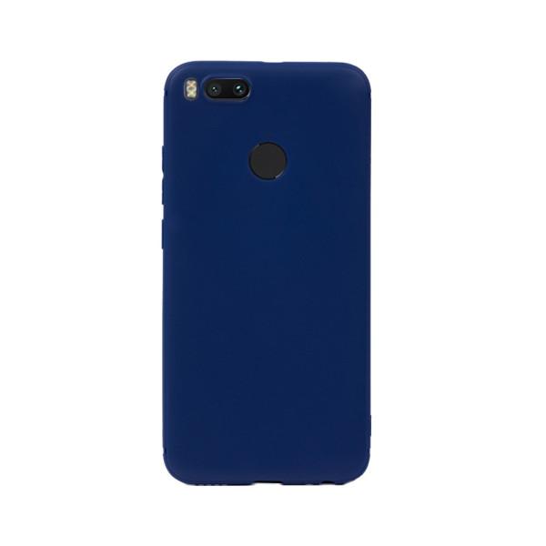 Цветен силиконов кейс/гръб за Xiaomi Mi 5X/Mi A1, Мек, Син