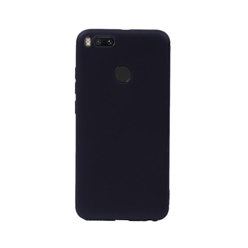 Цветен силиконов кейс/гръб за Xiaomi Mi 5X/Mi A1, Мек, Черен