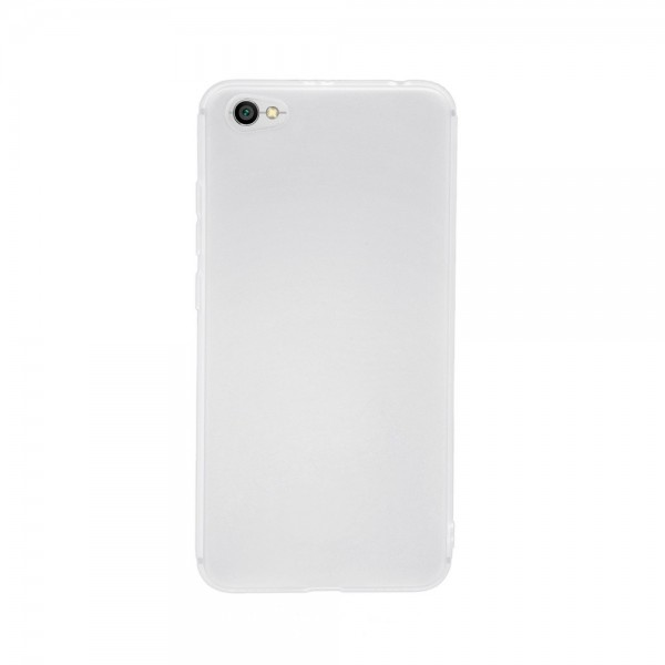 Цветен силиконов кейс/гръб за Xiaomi Redmi Note 5A, Мек, Бял