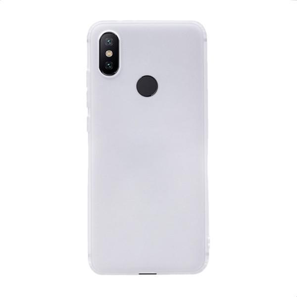 Цветен силиконов кейс/гръб за Xiaomi Mi 6X/Mi A2, Мек, Бял