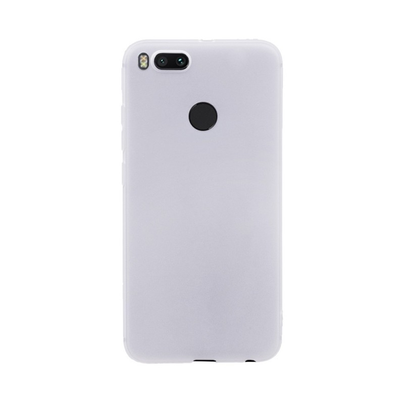 Цветен силиконов кейс/гръб за Xiaomi Mi 5X/Mi A1, Мек, Бял