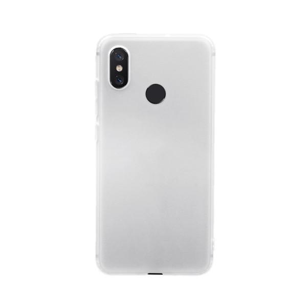 Цветен силиконов кейс/гръб за Xiaomi Mi 8, Мек, Бял