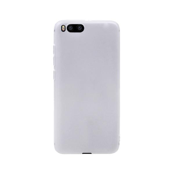Цветен силиконов кейс/гръб за Xiaomi Mi 6, Мек, Бял