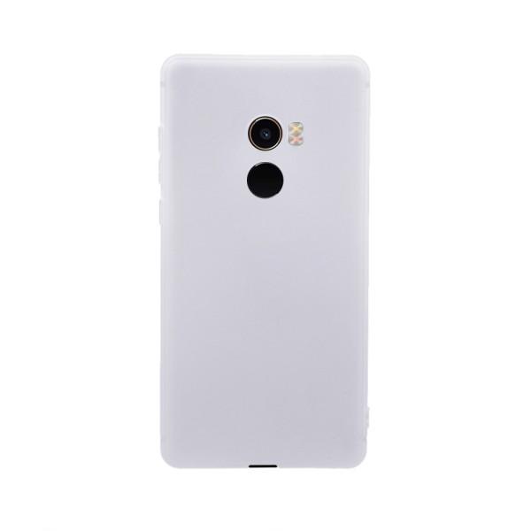 Цветен силиконов кейс/гръб за Xiaomi Mi Mix 2, Мек, Бял