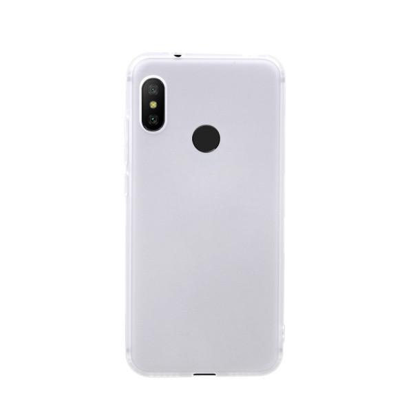 Цветен силиконов кейс/гръб за Xiaomi Redmi 6 Pro/Mi A2 Lite, Мек, Бял