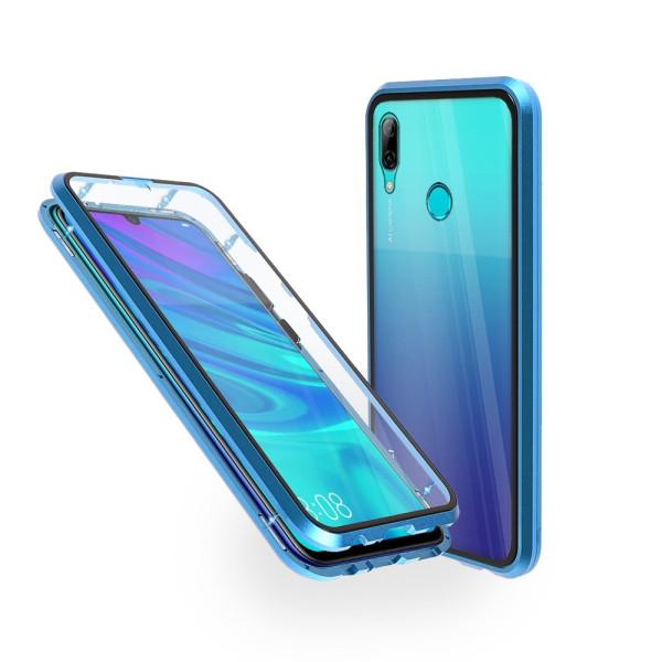 Магнитен 360° калъф от 2 части за Huawei P Smart (2019) със стъкло отпред и отзад, Син