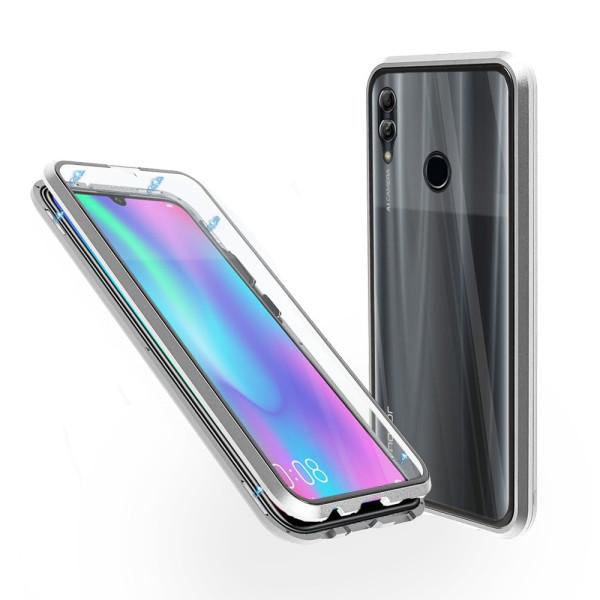 Магнитен 360° калъф от 2 части за Huawei Honor 10 Lite със стъкло отпред и отзад, Сребрист