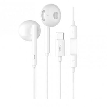 Слушалки Hoco L10 Acoustic с Type-C порт, Вграден Микрофон, Бели