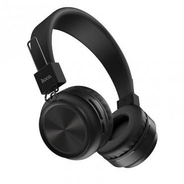 Безжични слушалки Hoco W25 с ANC технология, Тип Over-ear, Сгъваеми, Микрофон, Черни