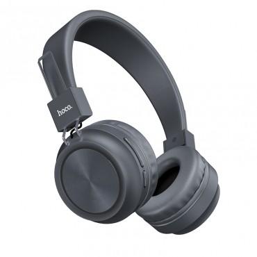 Безжични слушалки Hoco W25 с ANC технология, Тип Over-ear, Сгъваеми, Микрофон, Сиви