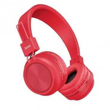 Безжични слушалки Hoco W25 с ANC технология, Тип Over-ear, Сгъваеми, Микрофон, Червени
