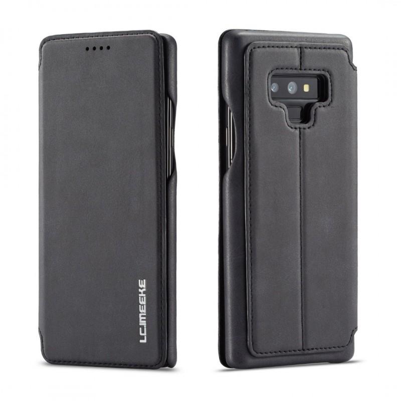 360° Кожен флип кейс/калъф за Samsung Galaxy Note 9, LC.IMEEKE, Магнитно Затваряне, Черен