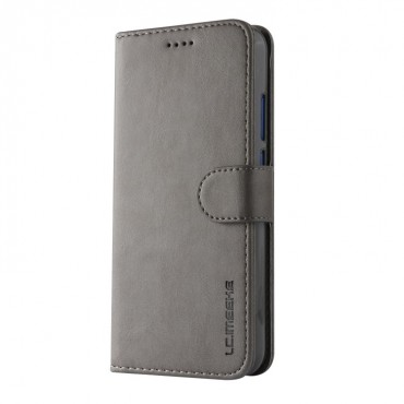 Луксозен кожен флип калъф/тип тефтер за Huawei P20 Lite, LC.IMEEKE, Сив