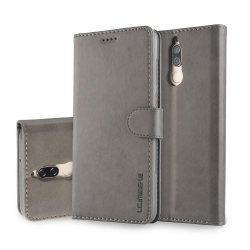 Луксозен кожен флип калъф/тип тефтер за Huawei Mate 10 Lite, LC.IMEEKE, Сив