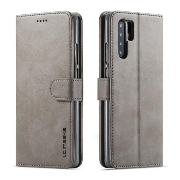 Луксозен кожен флип калъф/тип тефтер за Huawei P30 Pro, LC.IMEEKE, Сив