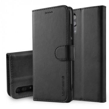 Луксозен кожен флип калъф/тип тефтер за Huawei P20, LC.IMEEKE, Черен