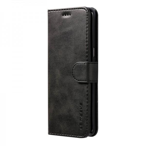 Луксозен кожен флип калъф/тип тефтер за Samsung Galaxy S8, LC.IMEEKE, Черен