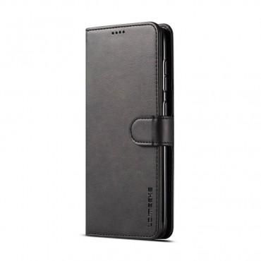 Луксозен кожен флип калъф/тип тефтер за Samsung Galaxy A50s, LC.IMEEKE, Черен