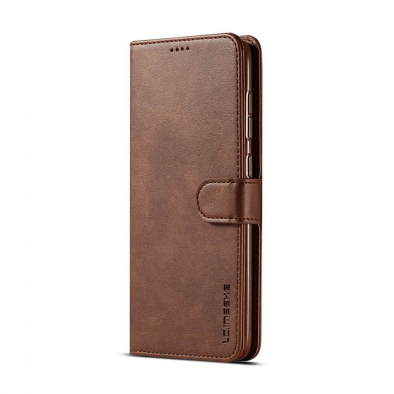 Луксозен кожен флип калъф/тип тефтер за Samsung Galaxy A50s, LC.IMEEKE, Тъмнокафяв