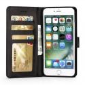 Луксозен кожен флип калъф/тип тефтер за iPhone 8 Plus, LC.IMEEKE, Черен
