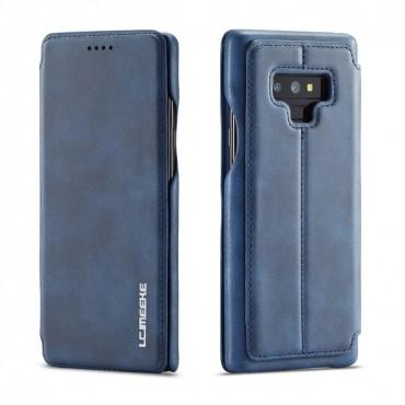 360° Кожен флип кейс/калъф за Samsung Galaxy Note 9, LC.IMEEKE, Магнитно Затваряне, Син