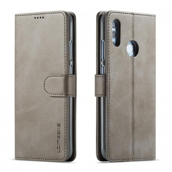 Луксозен кожен флип калъф/тип тефтер за Huawei Honor 8X, LC.IMEEKE, Сив