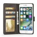 Луксозен кожен флип калъф/тип тефтер за iPhone 8 Plus, LC.IMEEKE, Сив