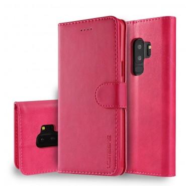 Луксозен кожен флип калъф/тип тефтер за Samsung Galaxy S9 Plus, LC.IMEEKE, Розов