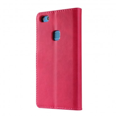 Луксозен кожен флип калъф/тип тефтер за Huawei P10 Lite, LC.IMEEKE, Розов