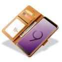 Луксозен кожен флип калъф/тип тефтер за Samsung Galaxy S9, LC.IMEEKE, Светлокафяв