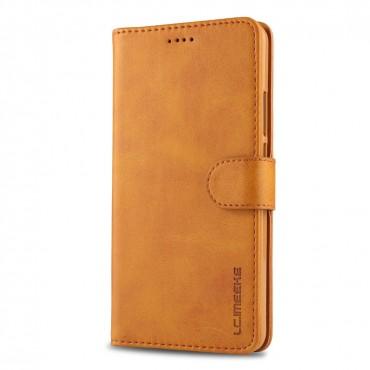 Луксозен кожен флип калъф/тип тефтер за Huawei Mate 10, LC.IMEEKE, Светлокафяв