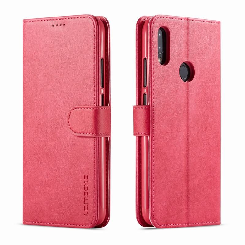 Луксозен кожен флип калъф/тип тефтер за Xiaomi Redmi Note 7 Pro, LC.IMEEKE, Розов