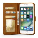 Луксозен кожен флип калъф/тип тефтер за iPhone 8 Plus, LC.IMEEKE, Светлокафяв
