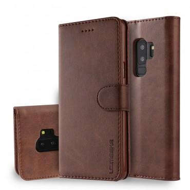 Луксозен кожен флип калъф/тип тефтер за Samsung Galaxy S9 Plus, LC.IMEEKE, Тъмнокафяв