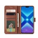 Луксозен кожен флип калъф/тип тефтер за Huawei Honor 8X, LC.IMEEKE, Тъмнокафяв