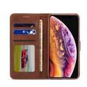Луксозен кожен флип калъф/тип тефтер за iPhone X, LC.IMEEKE, Тъмнокафяв
