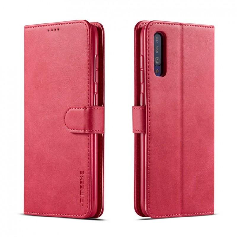 Луксозен кожен флип калъф/тип тефтер за Samsung Galaxy A70, LC.IMEEKE, Розов