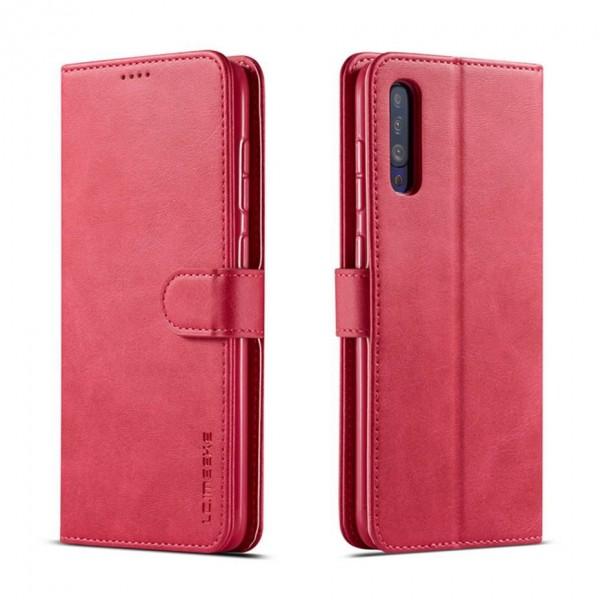 Луксозен кожен флип калъф/тип тефтер за Samsung Galaxy A50, LC.IMEEKE, Розов
