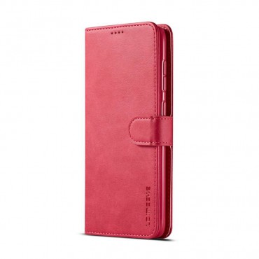 Луксозен кожен флип калъф/тип тефтер за Samsung Galaxy A50s, LC.IMEEKE, Розов
