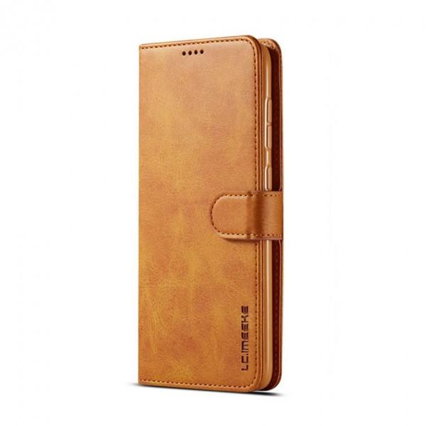 Луксозен кожен флип калъф/тип тефтер за Samsung Galaxy A50s, LC.IMEEKE, Светлокафяв