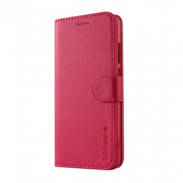 Луксозен кожен флип калъф/тип тефтер за Huawei P20 Pro, LC.IMEEKE, Розов