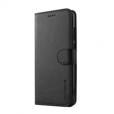 Луксозен кожен флип калъф/тип тефтер за Huawei P20 Pro, LC.IMEEKE, Черен