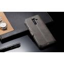 Луксозен кожен флип калъф/тип тефтер за Samsung Galaxy A6 Plus (2018), LC.IMEEKE, Сив