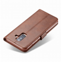 Луксозен кожен флип калъф/тип тефтер за Samsung Galaxy A6 Plus (2018), LC.IMEEKE, Тъмнокафяв