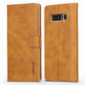 Луксозен кожен флип калъф/тип тефтер за Samsung Galaxy Note 8, LC.IMEEKE, Светлокафяв