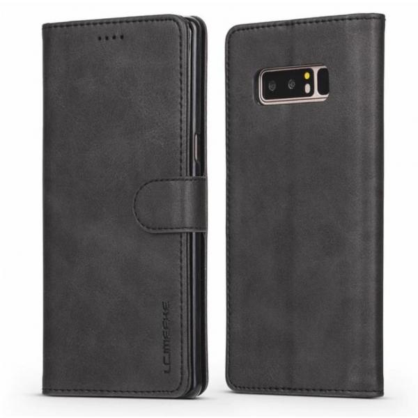 Луксозен кожен флип калъф/тип тефтер за Samsung Galaxy Note 8, LC.IMEEKE, Черен
