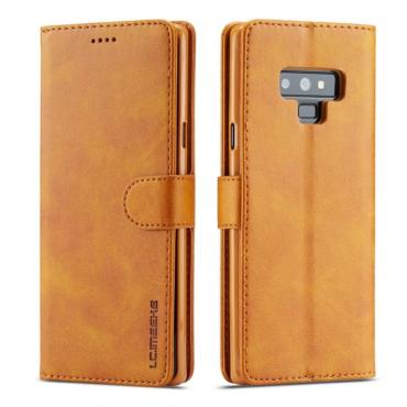 Луксозен кожен флип калъф/тип тефтер за Samsung Galaxy Note 9, LC.IMEEKE, Светлокафяв