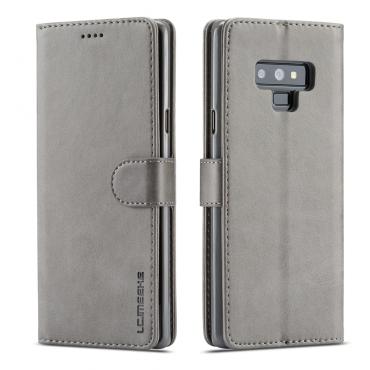 Луксозен кожен флип калъф/тип тефтер за Samsung Galaxy Note 9, LC.IMEEKE, Сив