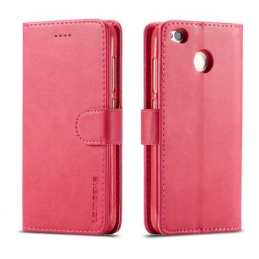 Луксозен кожен флип калъф/тип тефтер за Xiaomi Redmi 4, LC.IMEEKE, Розов