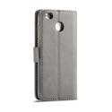 Луксозен кожен флип калъф/тип тефтер за Xiaomi Redmi 4X, LC.IMEEKE, Сив